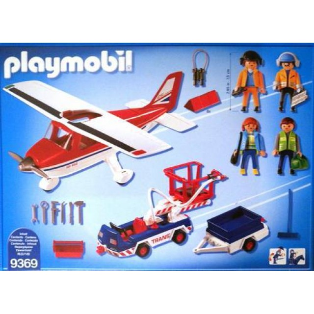 Playmobil 9369 - Red Plane - Back