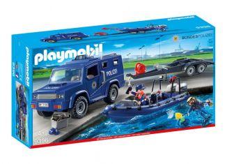 Playmobil - 9396-ger - Bundespolizei - Truck mit Schnellboot