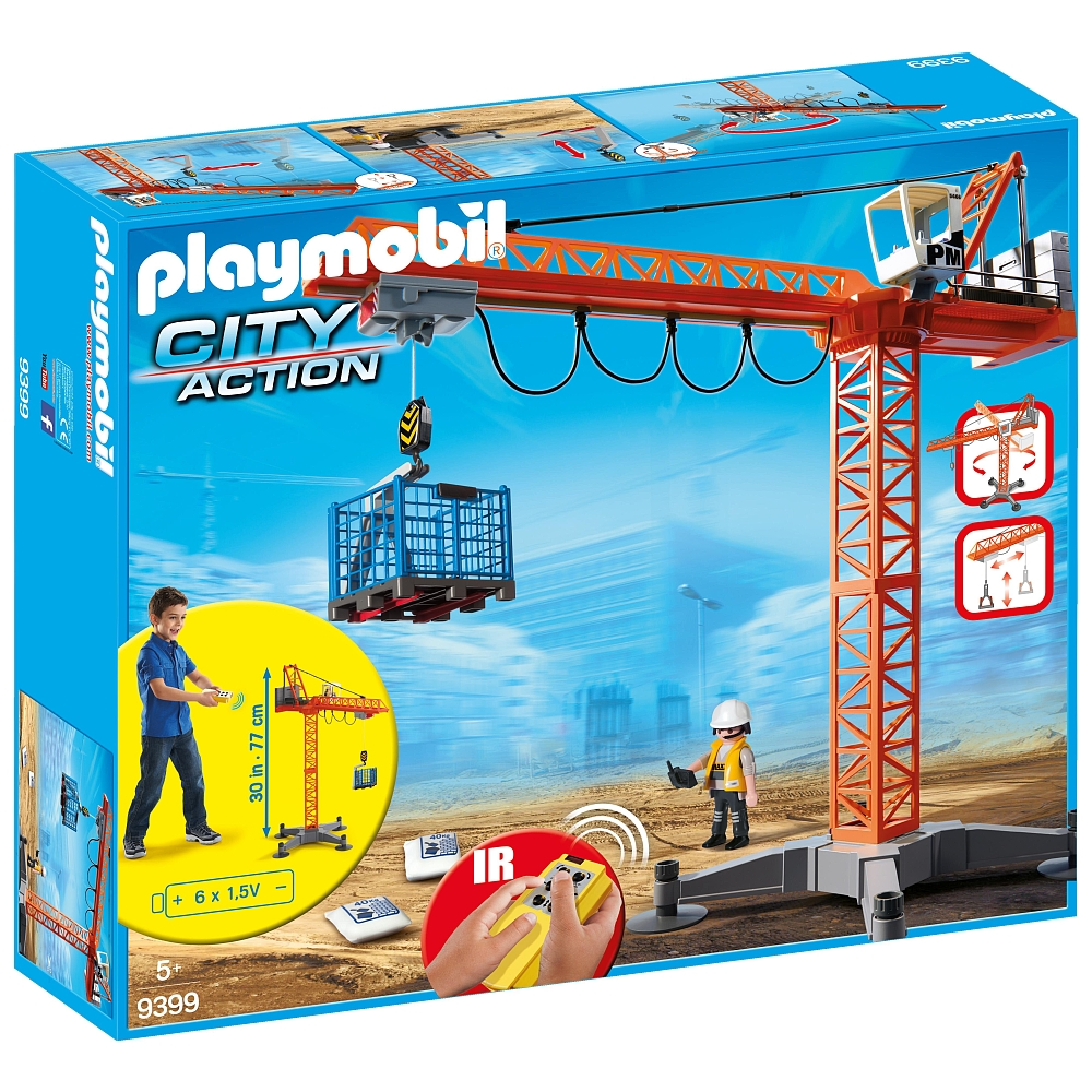 Playmobil 9399 - Construction Crane - Back