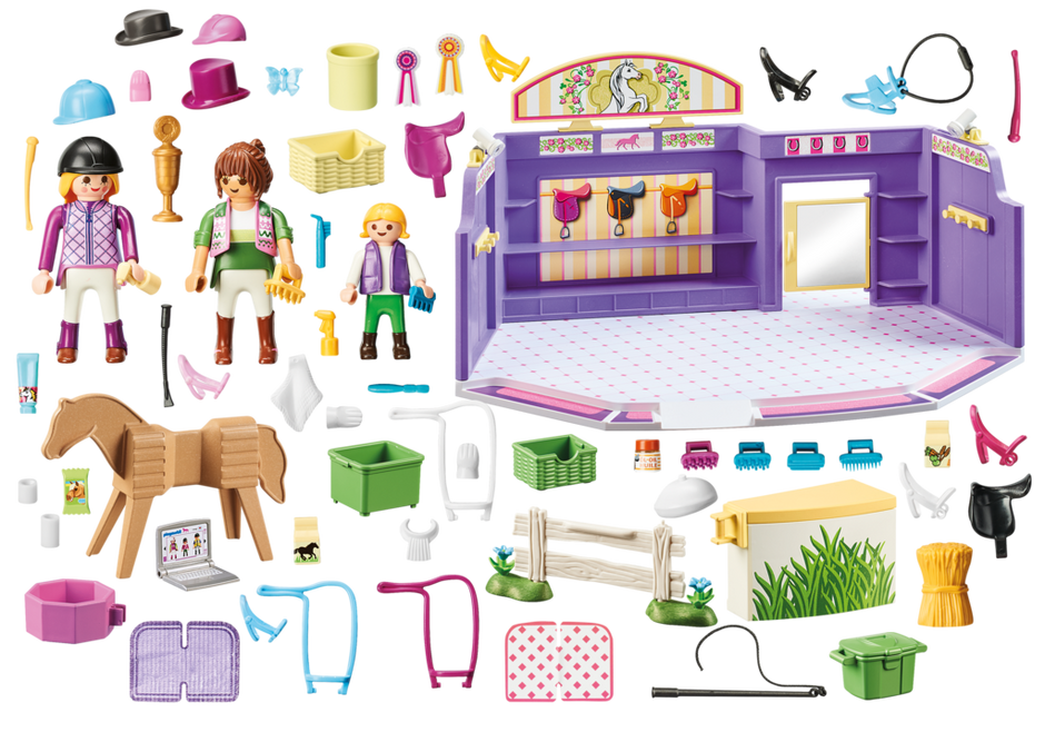 Playmobil 9401 - Horse Shop - Back