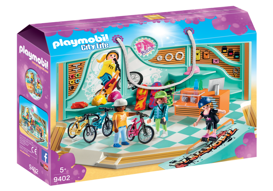 Playmobil 9402 - Bike and Skate Shop - Box