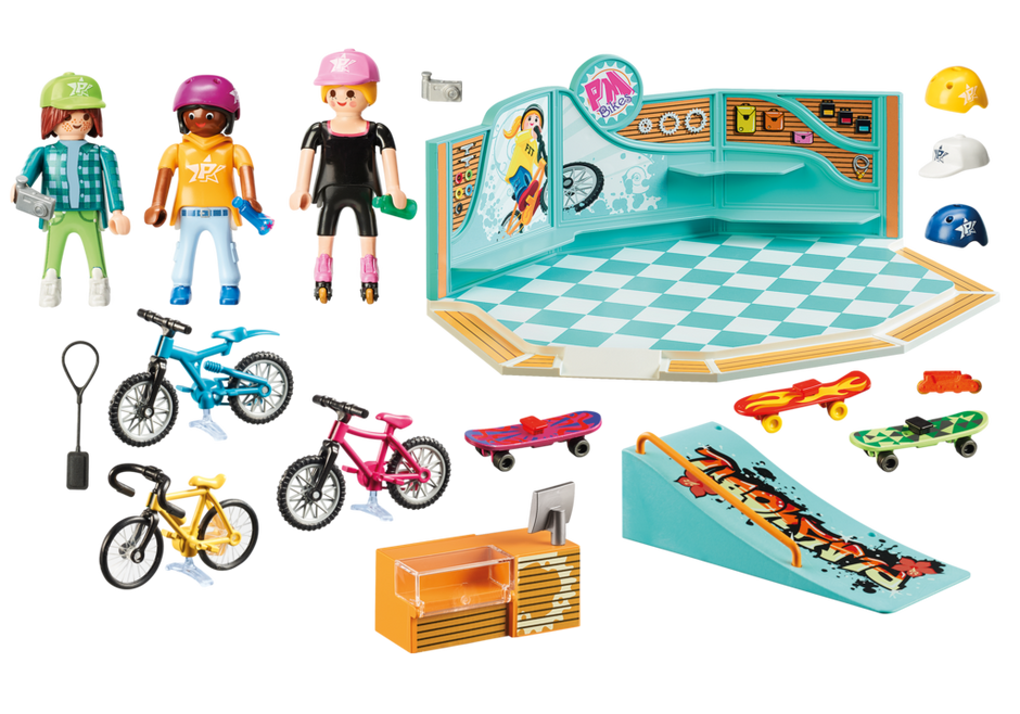 Playmobil 9402 - Bike and Skate Shop - Back
