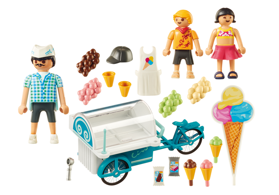 Playmobil 9426 - Bicycle with Ice Cream Truck - Back
