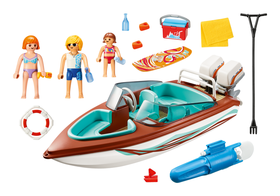Playmobil 9428 - Speedboat with Underwater Motor - Back