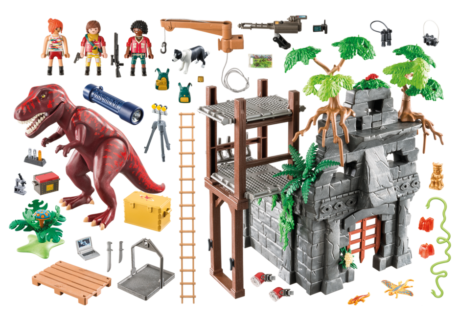 Playmobil 9429 - Hidden Temple with T-Rex - Back