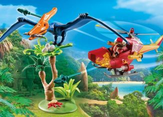 Playmobil - 9430 - Adventure Copter with Pterodactyl