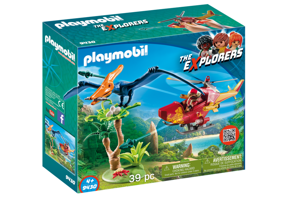 Playmobil 9430 - Adventure Copter with Pterodactyl - Caja