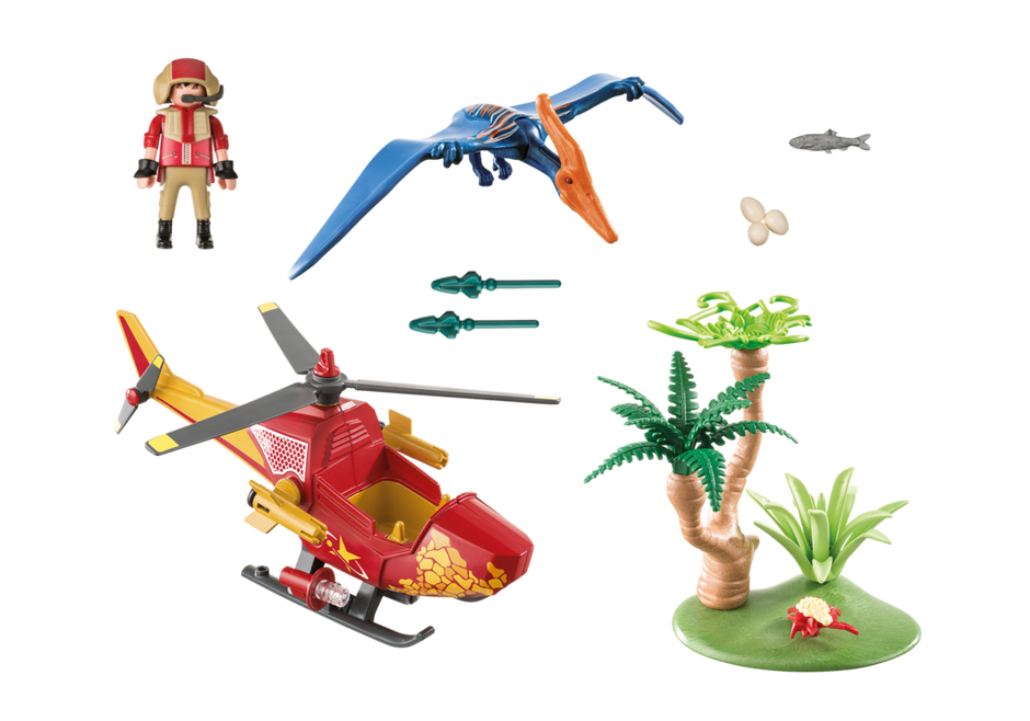 Playmobil 9430 - Adventure Copter with Pterodactyl - Volver