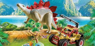 Playmobil - 9432 - Explorer Vehicle with Stegosaurus