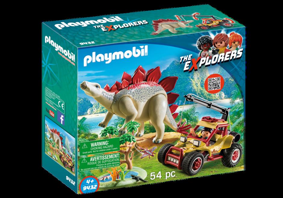 Playmobil 9432 - Explorer Vehicle with Stegosaurus - Box