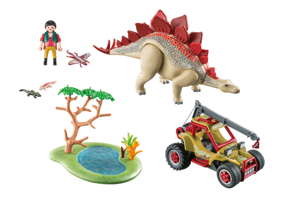 Playmobil 9432 - Explorer Vehicle with Stegosaurus - Back