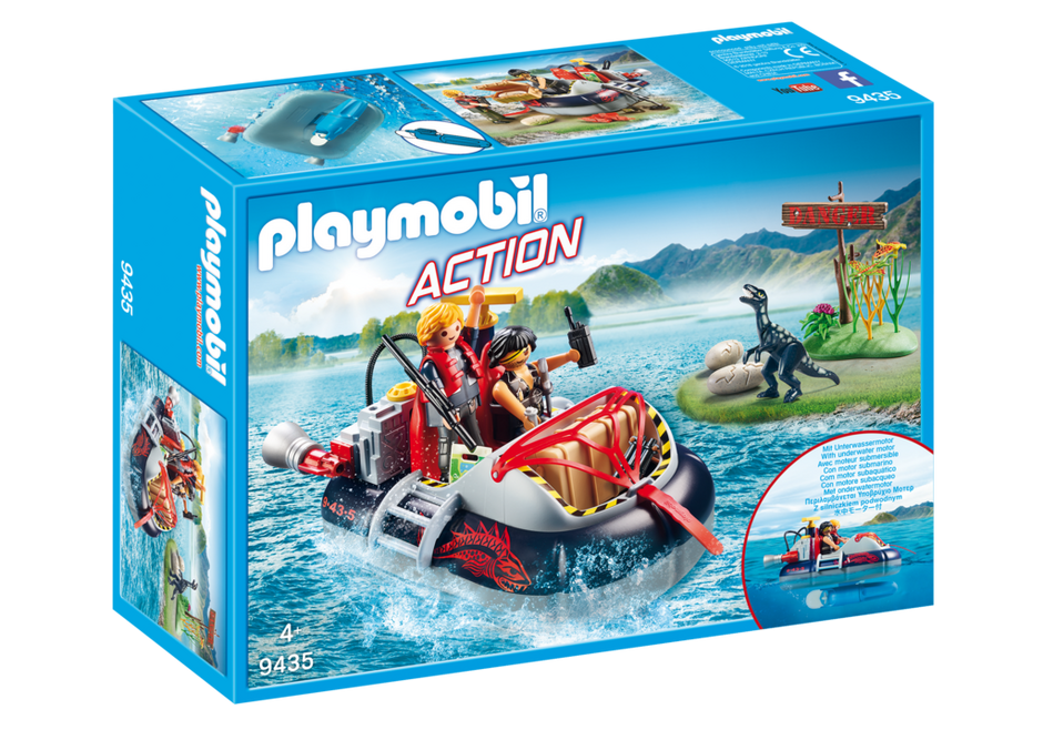 Playmobil 9435 - Airboat with Underwater Motor - Box