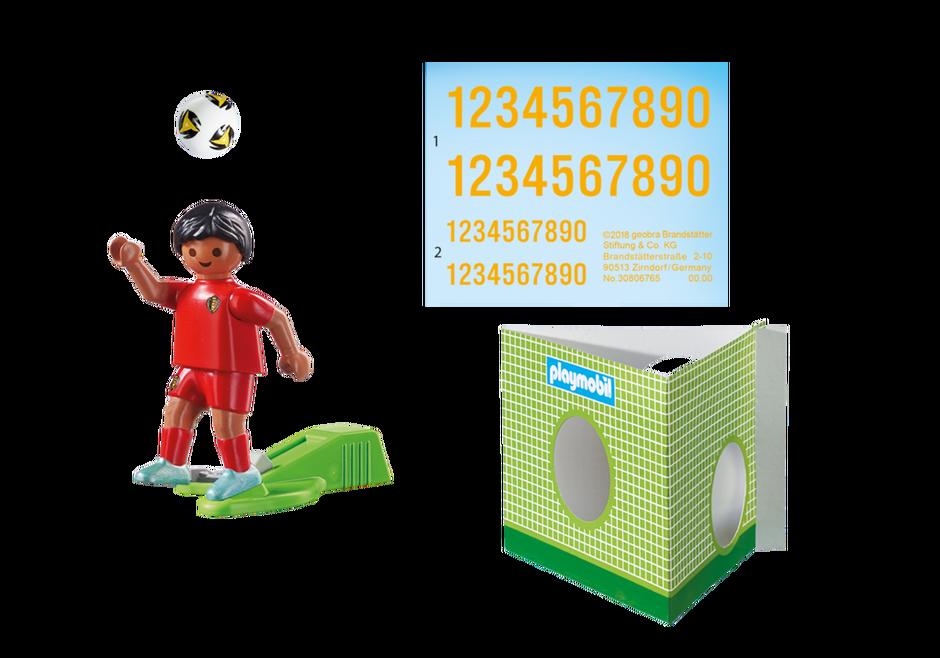 Playmobil 9509 - Soccer Player Belgium - Back