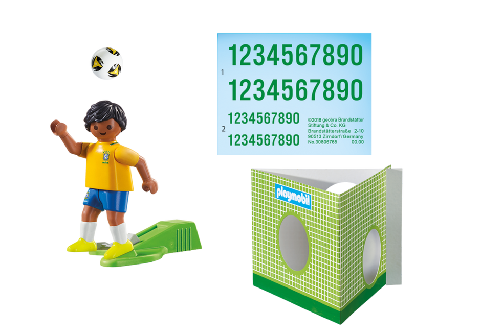 Playmobil 9510 - Soccer Player Brasil - Back