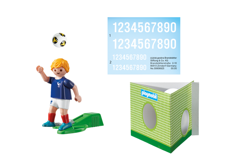 Playmobil 9513 - Soccer Player France - Back