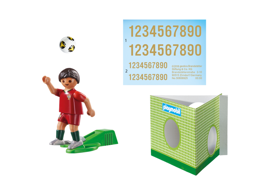 Playmobil 9516 - Soccer Player Portugal - Back