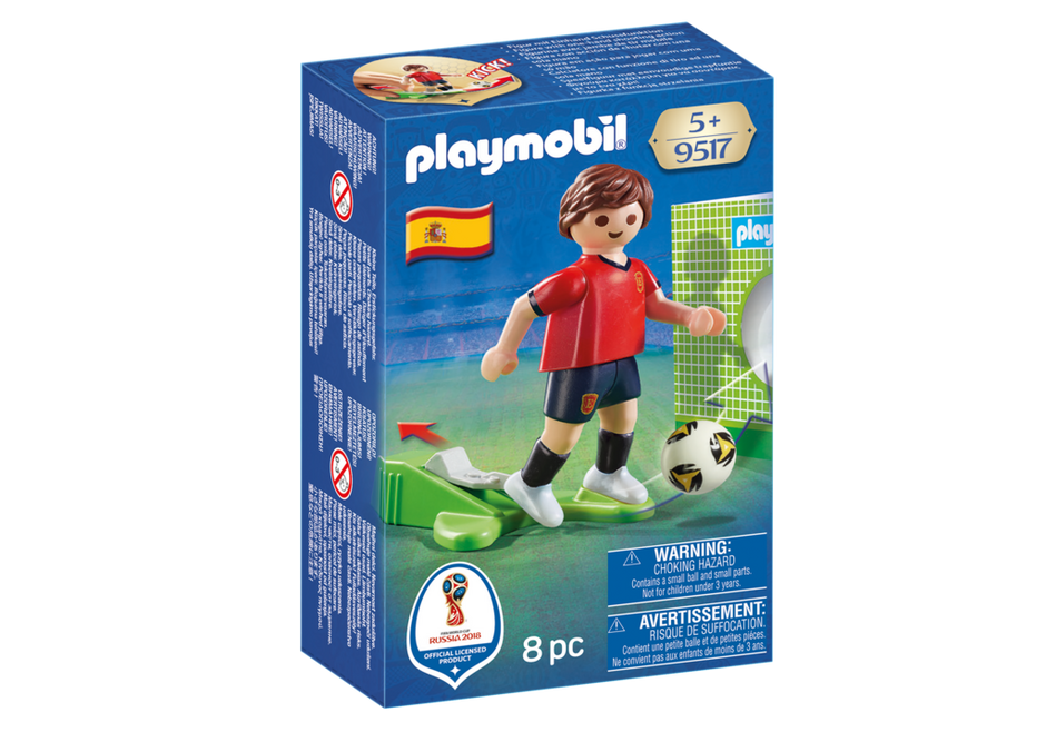 Playmobil 9517 - Soccer Player Spain - Box