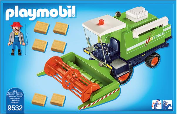 Playmobil 9532 - Harvester - Back
