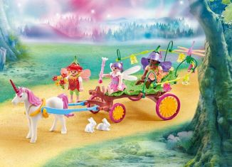 Playmobil - 9823 - Children Fairies with Unicorn Carriage