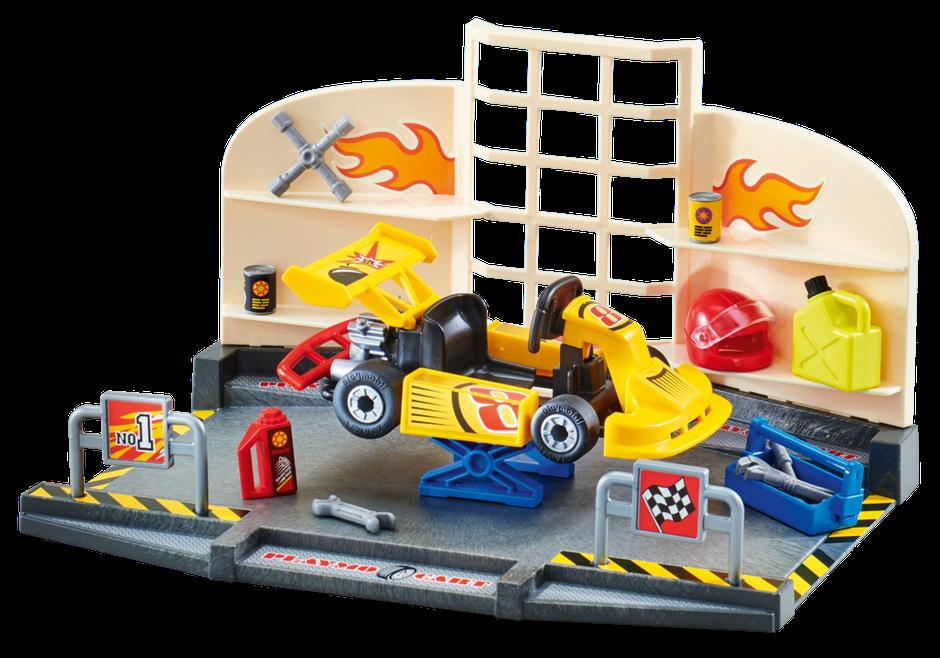 Playmobil Set 9827 Gokart Garage Klickypedia