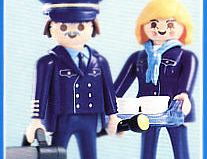 "Playmobil - 3103 - Pilot & Stewardess ""Hapag Lloyd"""