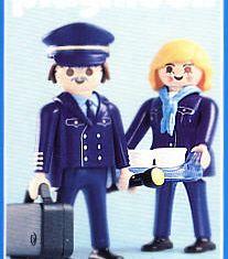 "Playmobil - 3103 - Pilot & Stewardess ""Hapag Lloyd"""