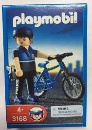 Playmobil 3168 - Officer on Bicycle - Box
