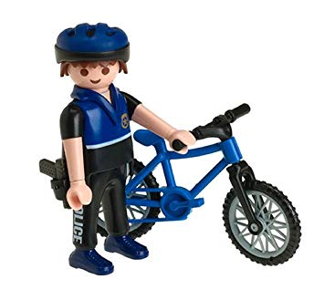 Playmobil 3168 - Officer on Bicycle - Back