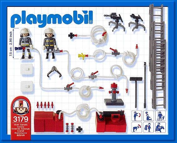 Playmobil 3179s2 - Fire Fighting Equipment - Back