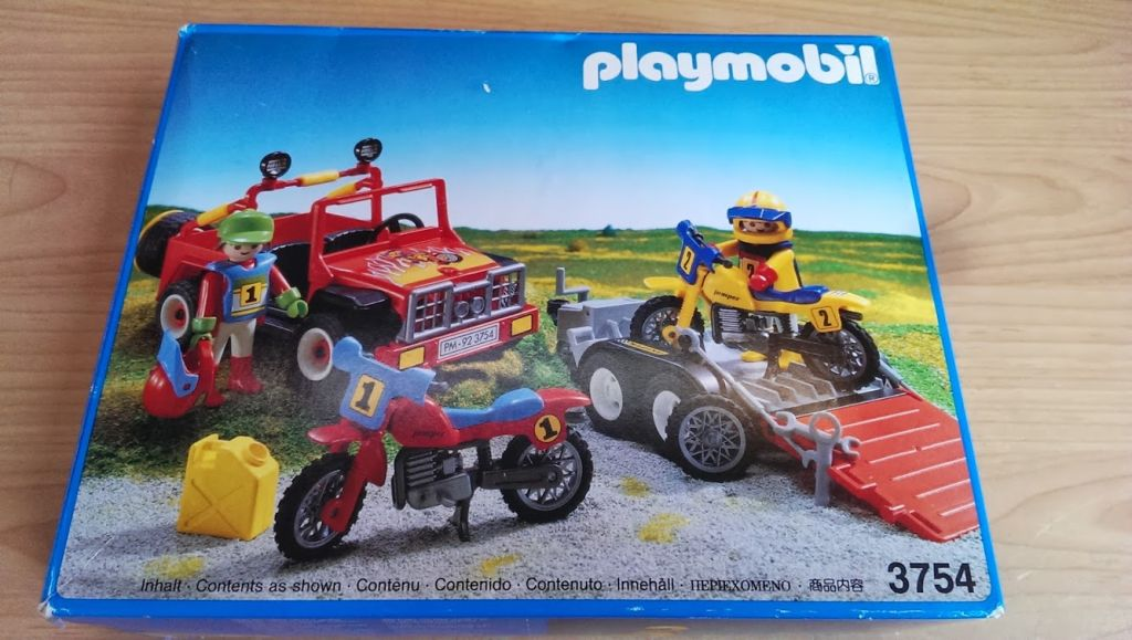 Playmobil 3754v1 - Red jeep with trailer & dirt bikes - Box