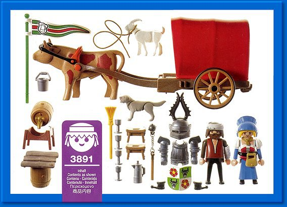 Playmobil 3891 - Ox-Cart Knight - Back