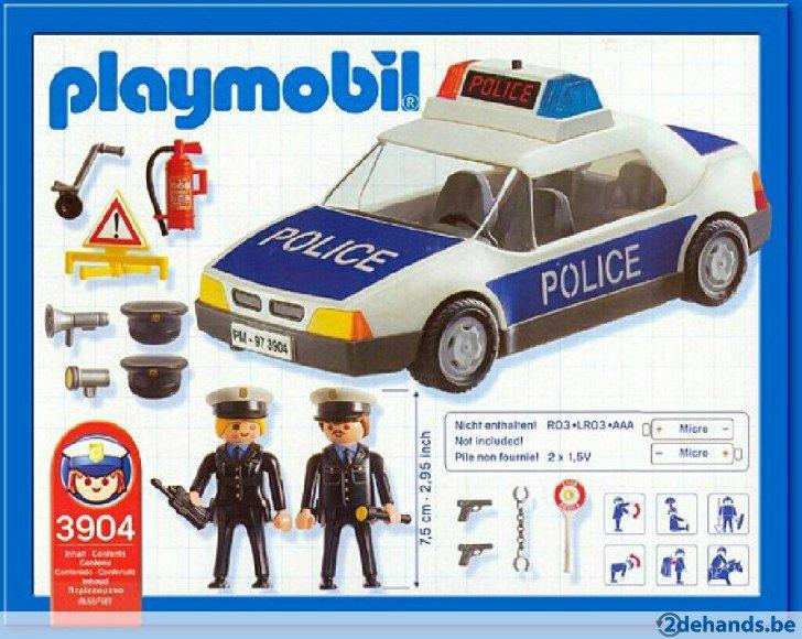 Playmobil 3904v2 - Police Car - Back