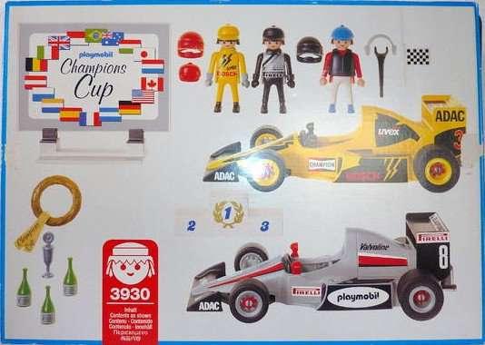 Playmobil 3930 - 2 Car Racing Set - Back