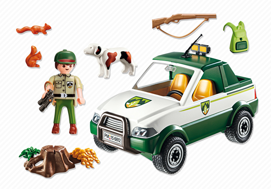 Playmobil 6812 - Forest ranger - Pickup - Back