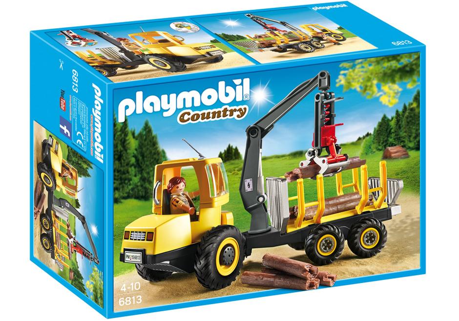 Playmobil 6813 - Forwarder with crane - Box