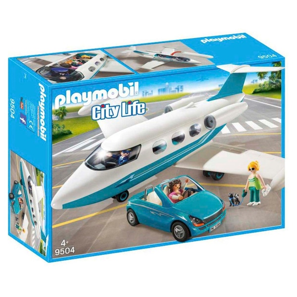 Playmobil 9504 - Executive Jet & Car - Box