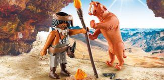 Playmobil - 9442 - Neanderthal and Sabertooth Tiger