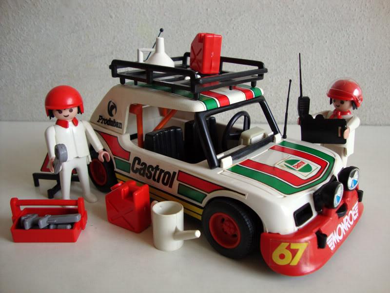 Playmobil 23.77.9-trol - Castrol rally car - Back
