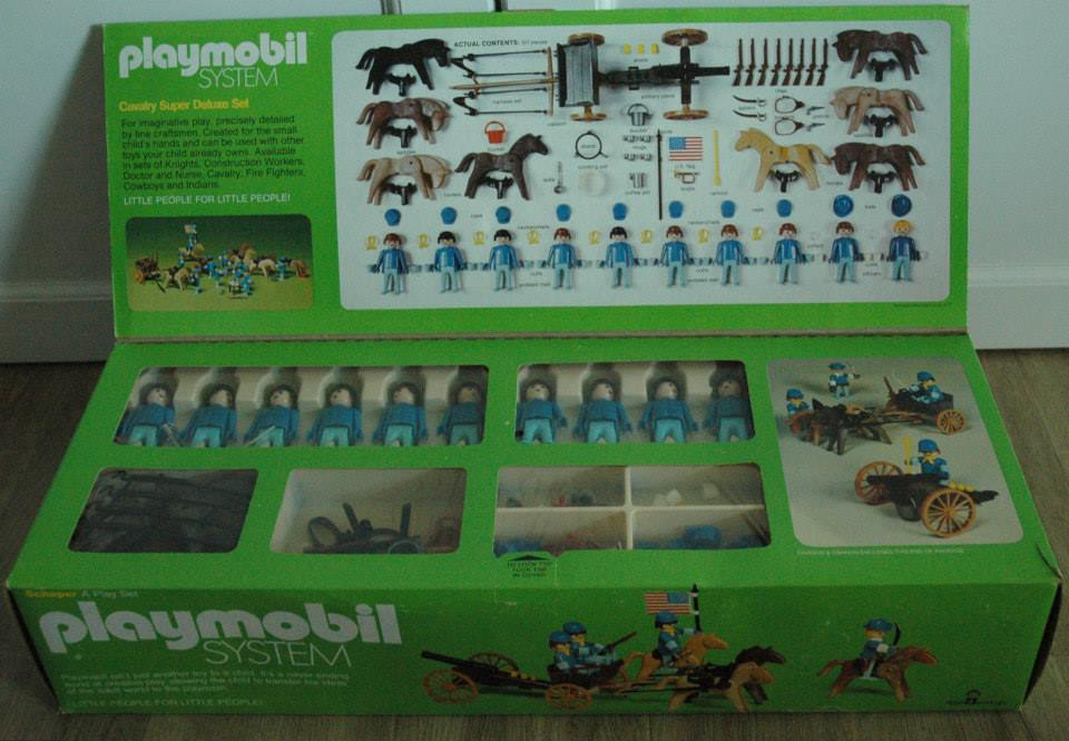 Playmobil 064-sch - Cavalry Super Deluxe Set - Back