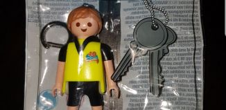 Playmobil - 30923840-ger - Soccer player keychain Puttino Cares