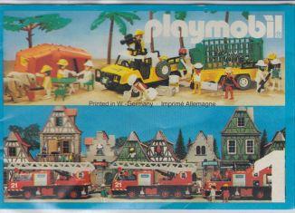 Playmobil - 00000-ger - Leaflet n.1 - Year 1982 (6,5 x 10 cm)