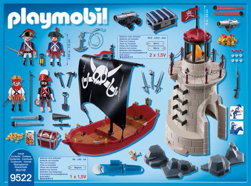 Playmobil 9522 - Pirates Playset - Back