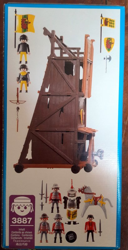Playmobil 3887 - Siege Tower - Back