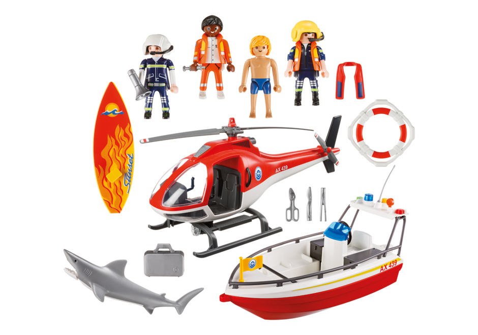 Playmobil 5668-gre - Coastal Search & Rescue - Back