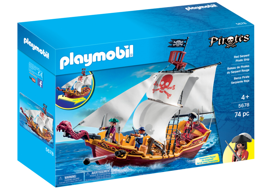 Playmobil 5678 - Red Serpent Pirate Ship - Box