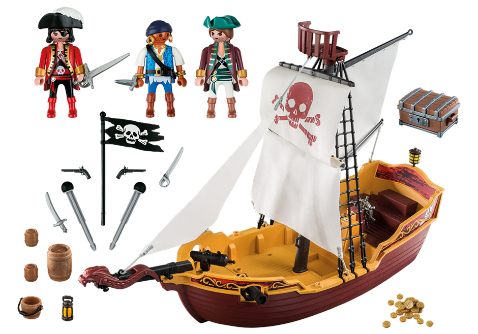 Playmobil 5678 - Red Serpent Pirate Ship - Back