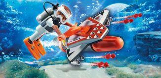 Playmobil - 70004 - SPY TEAM Underwater Wing