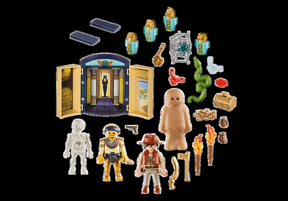 Playmobil 9311-usa - Egyptian Tomb Play Box - Back