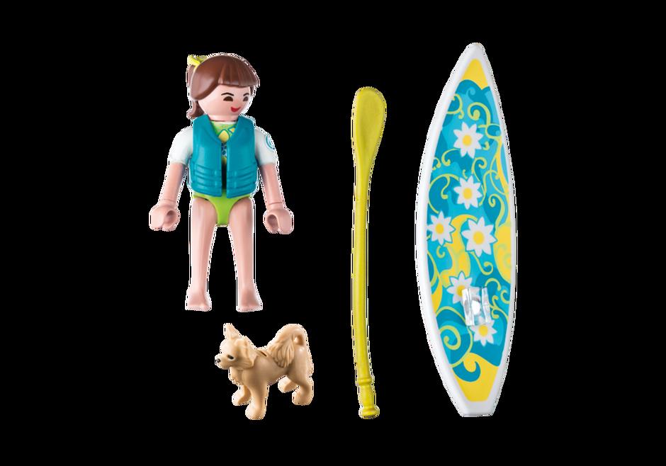 Playmobil 9354 - Paddle surf girl - Back