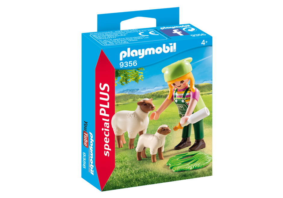 Playmobil 9356 - Peasant Woman and Sheep - Box